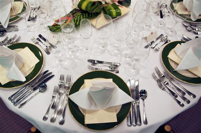 Guide d etiquette - Placer les verres sur une table ...